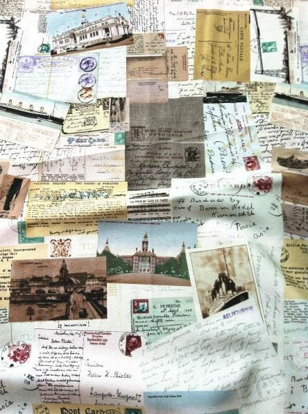 Rétro coton lin tissu, tissu Vintage carte, Colorful Sensibility carte postale 1/2 yard (QT201) par seasonalsupplies sur Etsy https://www.etsy.com/ca-fr/listing/158384281/retro-coton-lin-tissu-tissu-vintage