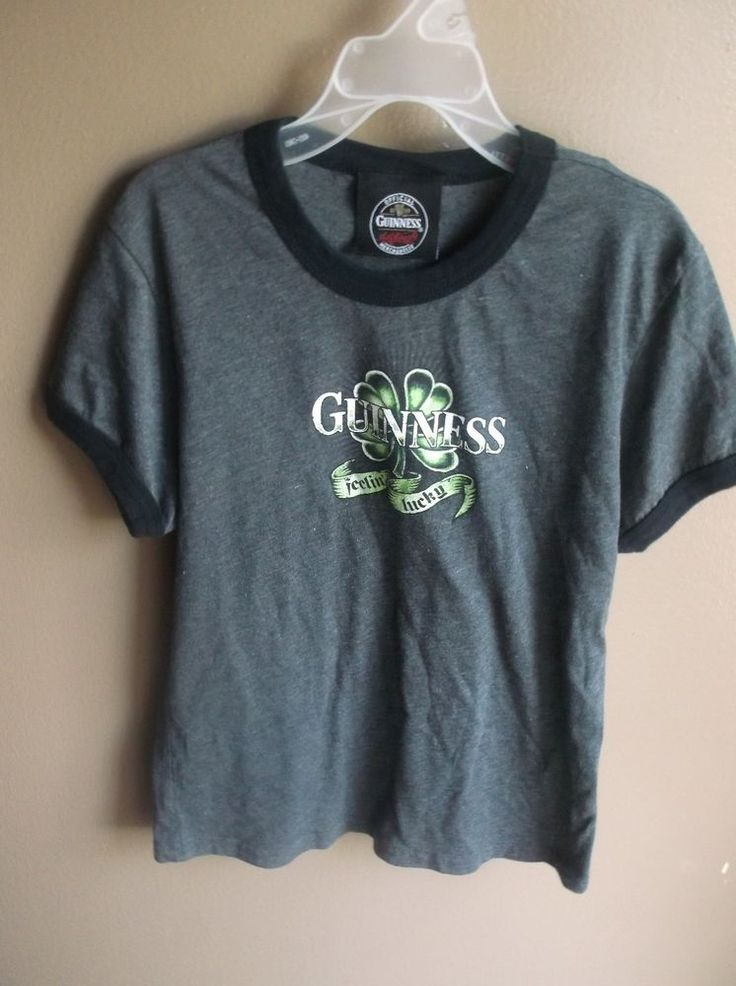 $1.00 Guinness large Tee Shirt Feelin Lucky Beer Irish Pub advertisement #Unbranded #GraphicTee