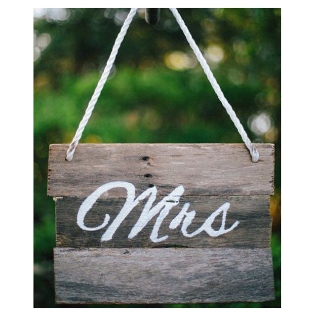 And of course the other half of the pair-our beautiful rustic 'mrs' sign for your wedding. #willowandvine #prophire #party #wedding #reception #rustic #mrschairsign #handmade #unique