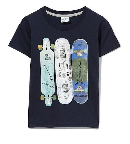 Skateboard Tee by Milky Sizes 00-7