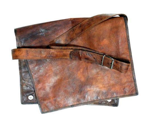 Asri Leather Bag -  Vintage Handmade Real Leather Messenger Bag Shoulder Bag Laptop satchel
