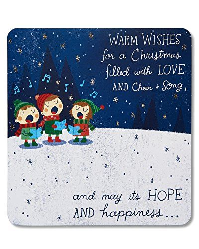 American Greetings Warm Wishes Christmas Card With Music 5777223