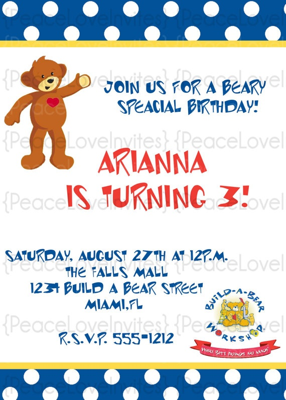 63 best build a bear images – Build a Bear Invitations Birthday