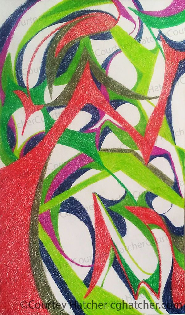 Color Pencil Drawing By Courtney Hatcher Artist Abstract