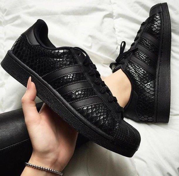 adidas superstar black uk