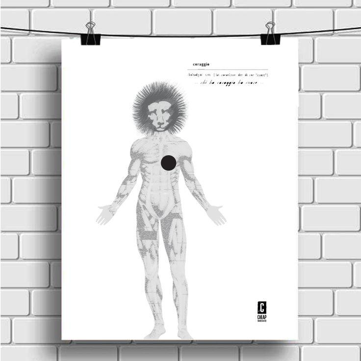 Open Call 2015 - CHEAP FESTIVAL - via Irnerio, bologna mio poster *cuor di leone* (in baso a destra) #cheapfestival #bologna #bolognastreetart #poster #manifesto #posterart #uomo #leone #cuore #coraggio #graphic #streetart #illustration #design #bolognawelcome #blackandwhite #totalblack #biancoenero #cuore #leone #uomo #coraggio