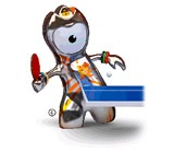 Table-Tennis mascot for London 2012 Olympics
