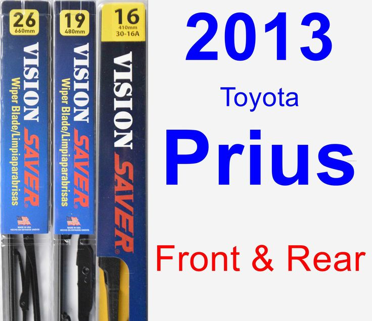 Front & Rear Wiper Blade Pack For 2013 Toyota Prius