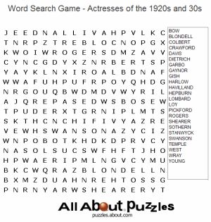 Free Word Search Puzzles You Can Play Online or on Paper: Famous People Word Search Games