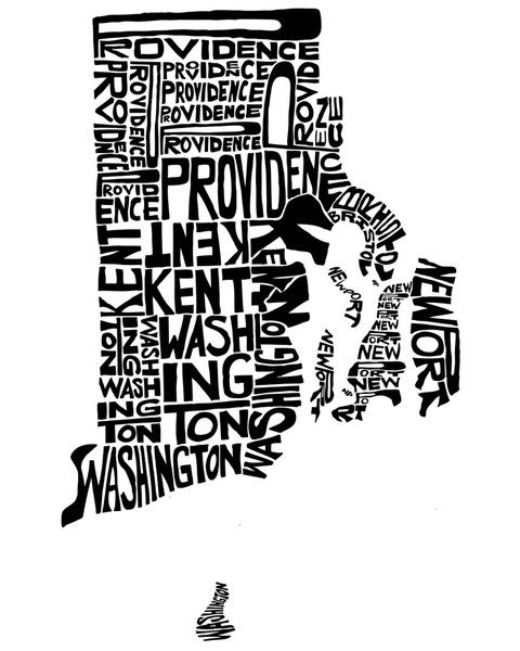 Typographic Rhode Island