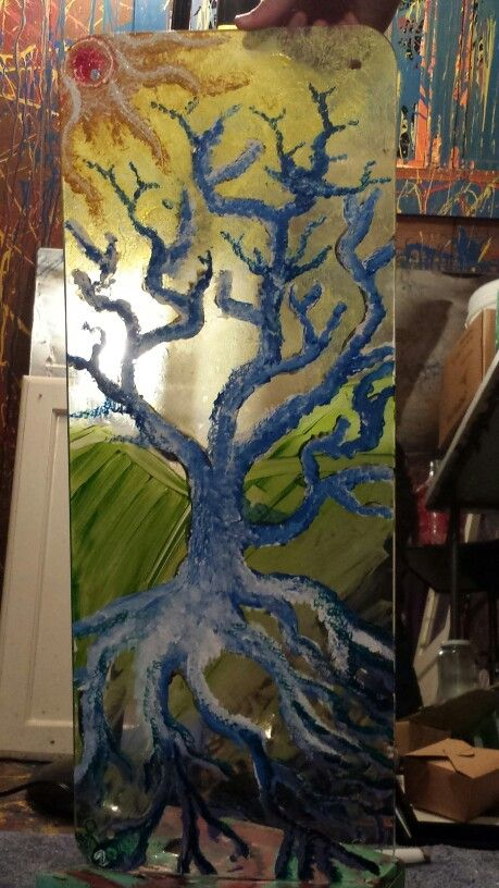 I like painting on glass #paintonglass