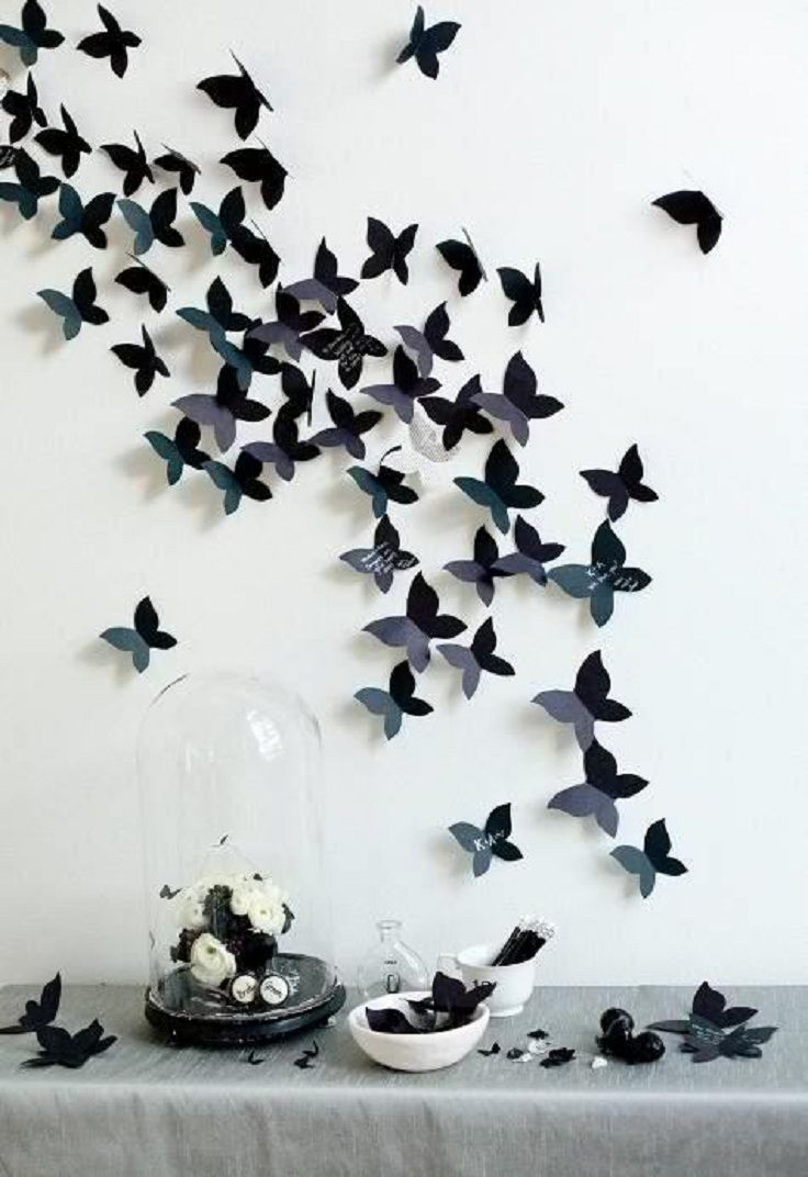 DIY Decor Your Wall With Cute Butterflies