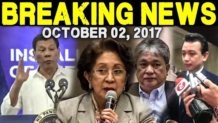 BREAKING NEWS TODAY OCTOBER 04, 2017 - TRILLANES l PRES. DUTERTE l OMBUD...