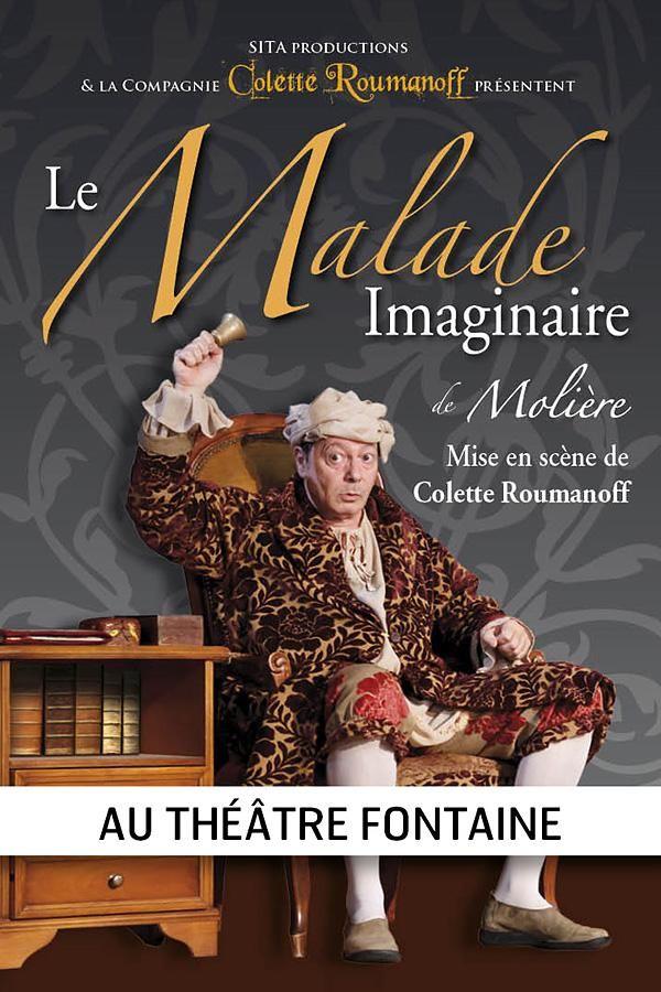 Affiche de la pièce « Malade imaginaire »
