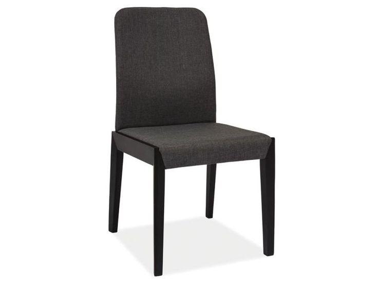 Krzesło FILO, czarny (tapicerka ciemny szary)