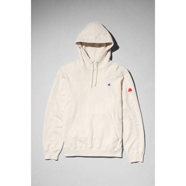 Skate Hoodie - White - Hoodies & sweatshirts - Weekday via Polyvore featuring tops, hoodies, hoodie top, sleeve top, hooded sweatshirt, white hoodies en white top