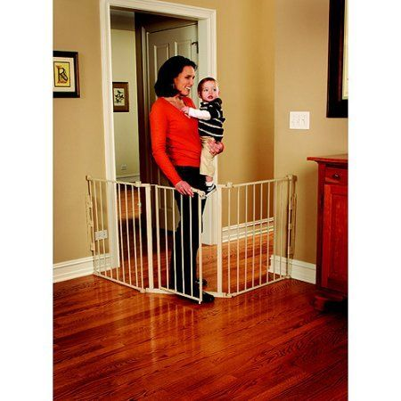 Regalo 76-Inch Super Wide Configurable Walk Through Baby Gate, Hardware Mount > Save this wonderfull item : Dog gates