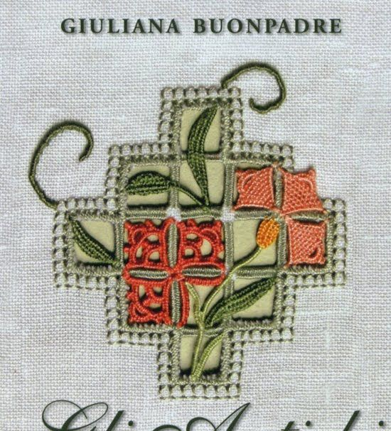 Contemporary reticello design and color - Giuliana Buonpadre's books