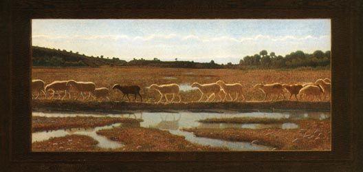 Pellizza da Volpedo, LO SPECCHIO DELLLA VITA, 1898, olio su tela, cm. 132x291, Torino, Civica