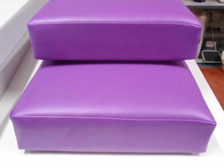 Garden Bench Foam Cushions In Just Colour Fabric, Grape Colour. Foam Cut To  Size