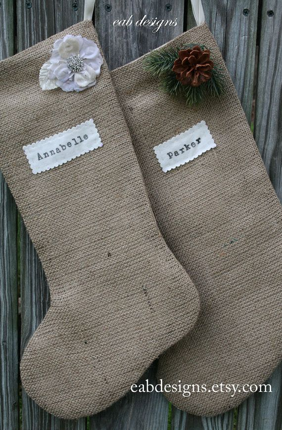 Burlap Stocking.