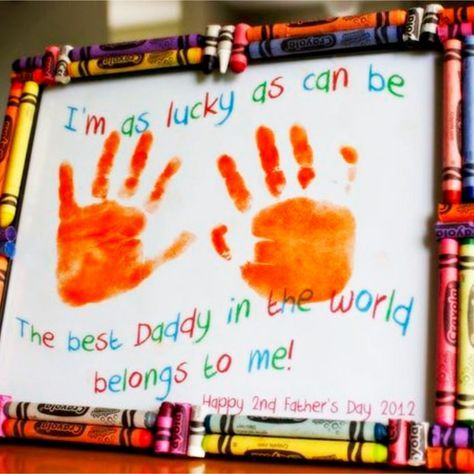 Easy Father's Day Crafts for Preschoolers, Toddlers and kids of all ages. Easy C...