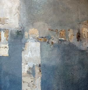 absolution vi ~ mixed media ~ by joyce stratton.  Love the colour palette in this piece.