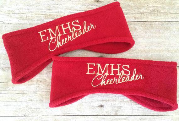 Cheerleading Ear Warmers - Personalized Cheerleader Ear Muff - Custom Tailgate - Personalized Headband - Cheer Mom - Cheer Dad - 9 Colors
