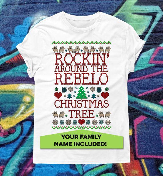 Custom Family Name Ugly Sweater T-shirt by kitschklothing on Etsy