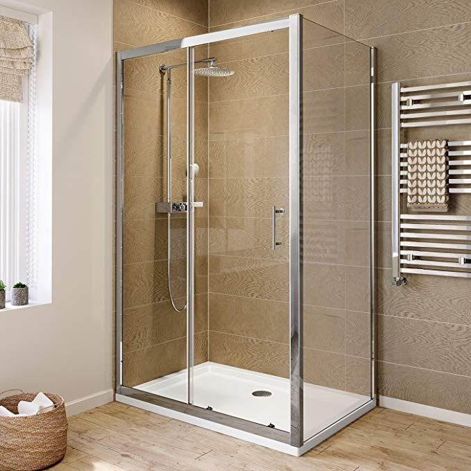Ibathuk 1200 X 800 Modern Sliding 6mm Glass Shower Enclosure Cubicle Door Side Panel Ibathuk Ama Quadrant Shower Enclosures Shower Cubicles Wet Room Shower