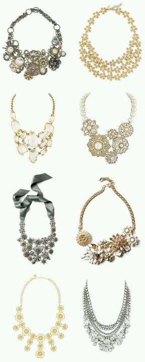 Bridesmaid statement necklace