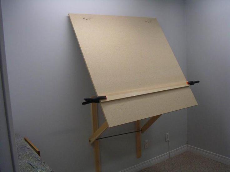 Plans for DIY large wall mount easel - WetCanvas | Desks | Wall, Easel, Art studios