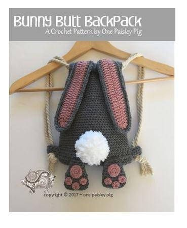 Bunny Butt Backpack – Instant Download PDF CROCHET PATTERN