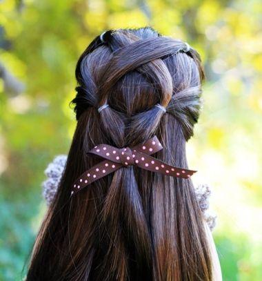 Easy criss-cross ponytail veil hairstyle // Egyszerű tavaszi keresztezett copfos frizura // Mindy -  creative craft ideas //  #frizura #esküvőifrizura #hairstyle #bridalhair #weddinghair