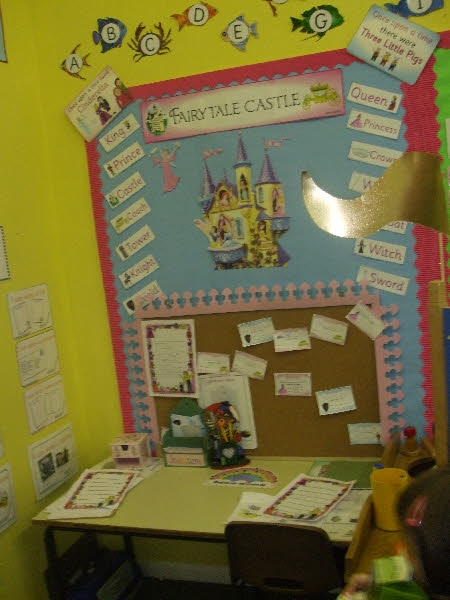 Fairytale writing corner. Have it set up during free time and the students can add to the story.