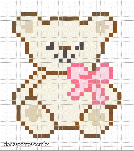 Teddy bear hama perler beads - Bügelperlen