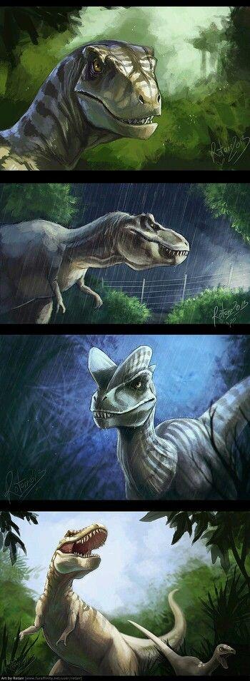 Óleo Dinosaurios