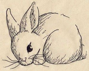 """Darling machine embroidery design """"Bunny Sketch"""" from Urban Designs"""