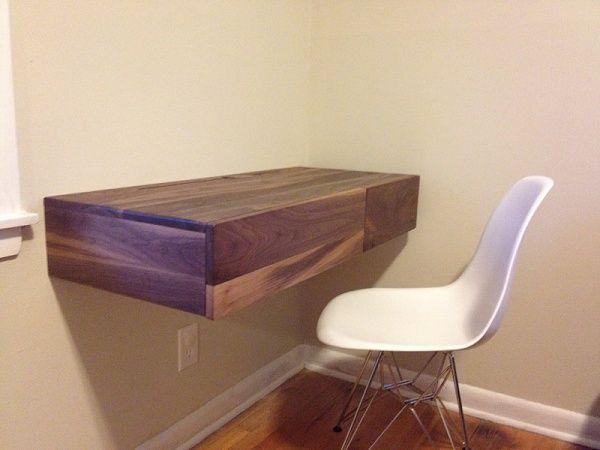 1000 ideas about floating desk on pinterest desks desk. Black Bedroom Furniture Sets. Home Design Ideas