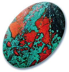 Chrysocolla and Cuprite from Mexico