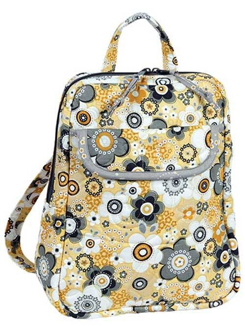 This stylish backpack is perfect for travel or even just for a quick trip to the store. Pockets on the inside will keep the contents organized and pockets