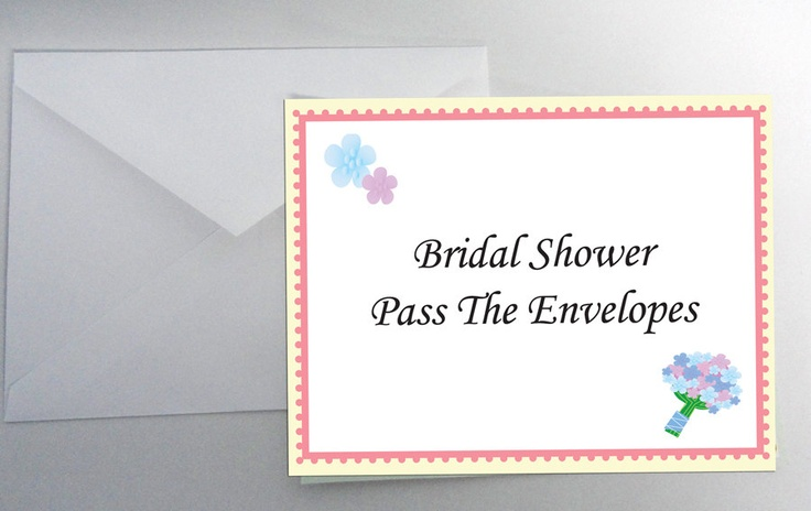 INSTANT DOWNLOAD Pass the Envelopes Bridal Shower Game Icebreaker Wedding Party. $3.99, via Etsy.