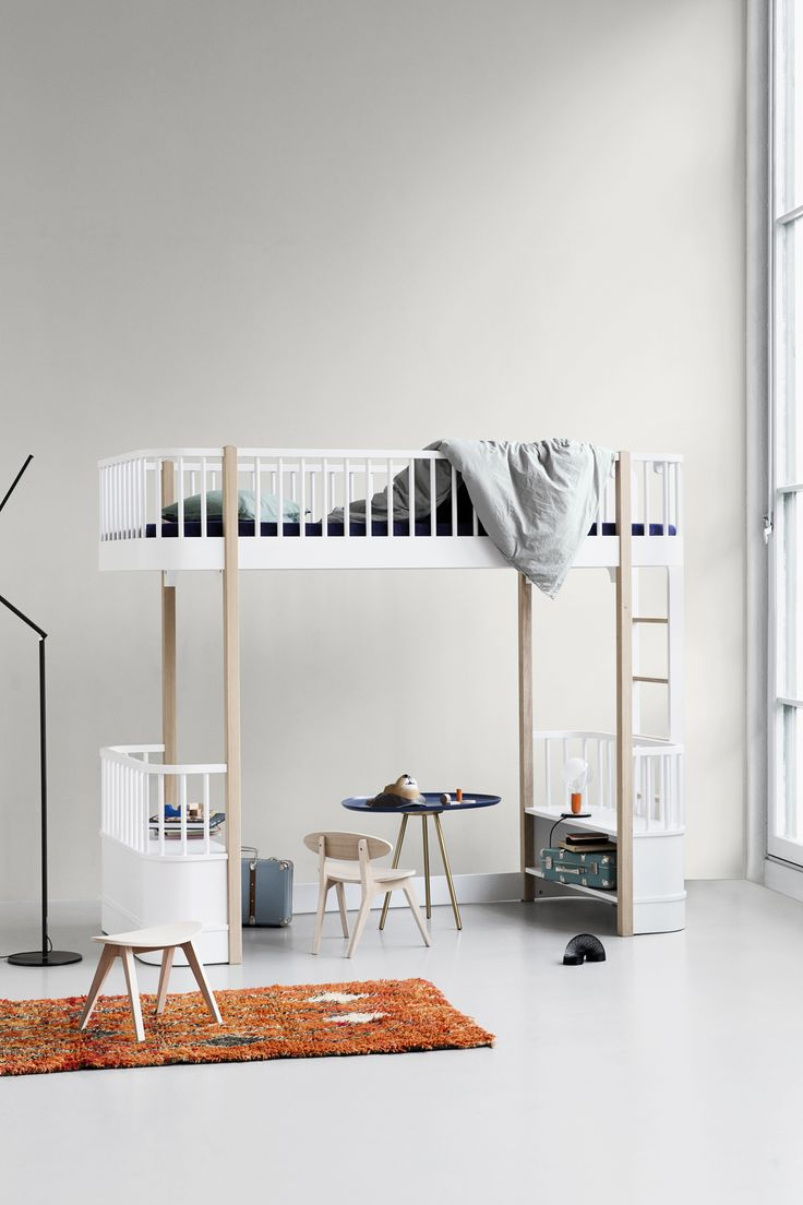 Wood Collection loft bed by Oliver Furniture.