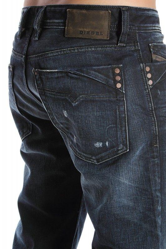 Jeans azul obscuro al cuerpo Alex