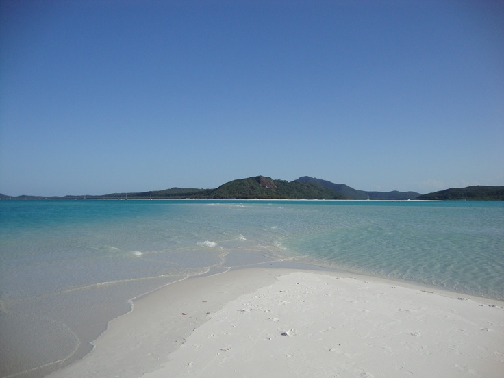 The waters edge at Whitehaven Beach