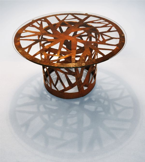 A series of coffee tables prototypes designed for the Romanian community of gypsy craftsman