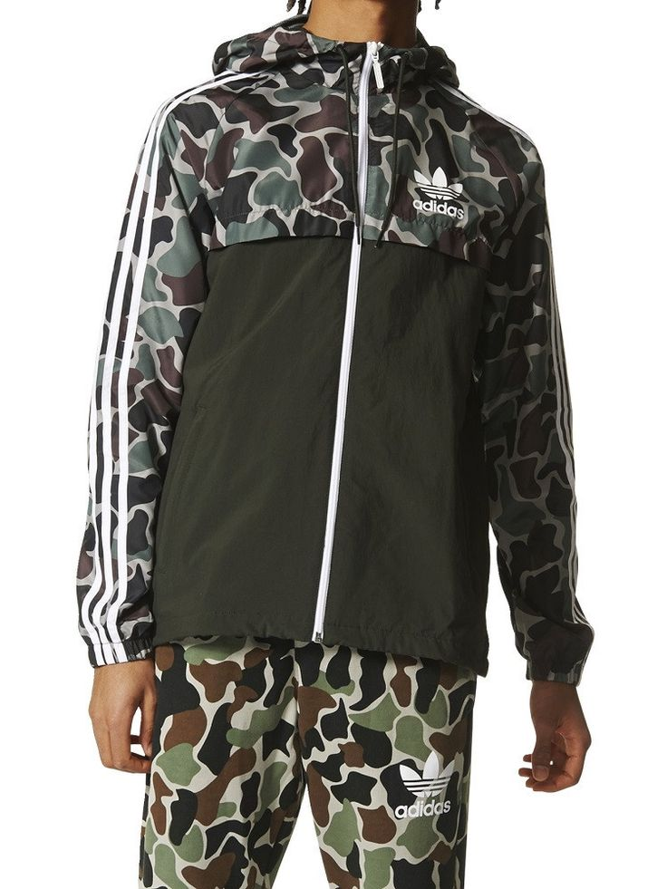adidas Camo Rev Wind Breaker Hooded Jacket – West Brothers