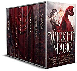 USA Today Bestselling Authors  6 Novels Plus 2 Bonus Novellas Featuring Shifters, Dragons, Gods, Demons, Fae, Vampires, Witches, and the Devil Himself.  A little bit of wickedness can be so much fun…  Six novels and two bonus novellas of twisted magical tales with romance, adventure, and enchantment. Meet trickster fae, dark elves, mercurial heroes, faery queens, southwestern witches, shifters, dragons, and vampires. See the Devil himself get his due and fall in love, right along with these…