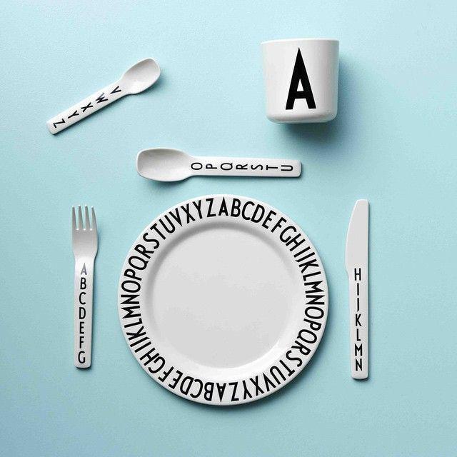 Designletters Arne Jacobsen; melamine tableware for kids #rimini_all_for_kids @rimini_shop