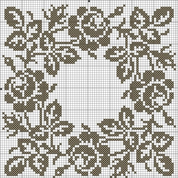 haft krzyżykowy / filet szydełko /  wzór // filet crochet pattern